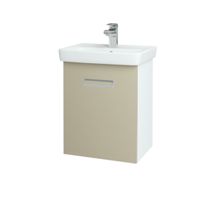 Dřevojas - Koupelnová skříň SINGLE SZZ 50 - N01 Bílá lesk / L04 Béžová vysoký lesk (150945)