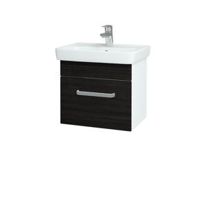 Dřevojas - Koupelnová skříň SOLO SZZ 50 - N01 Bílá lesk / Úchytka T01 / D14 Basalt (149994A)