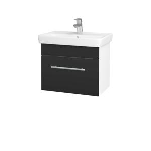 Dřevojas - Koupelnová skříň SOLO SZZ 55 - N01 Bílá lesk / Úchytka T02 / N03 Graphite (205560B)