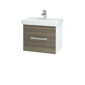 Dřevojas - Koupelnová skříň SOLO SZZ 55 - N01 Bílá lesk / Úchytka T03 / D03 Cafe (21149C)