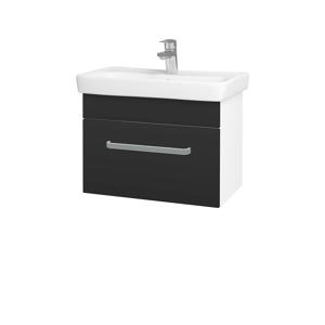 Dřevojas - Koupelnová skříň SOLO SZZ 60 - N01 Bílá lesk / Úchytka T01 / N03 Graphite (205768A)
