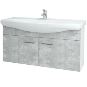 Dřevojas - Koupelnová skříň TAKE IT SZD2 120 - N01 Bílá lesk / Úchytka T03 / N08 Cosmo (206598C)