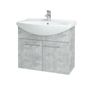 Dřevojas - Koupelnová skříň TAKE IT SZD2 75 - D01 Beton / Úchytka T02 / D01 Beton (133306B)