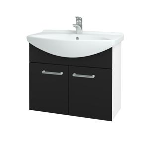 Dřevojas - Koupelnová skříň TAKE IT SZD2 75 - N01 Bílá lesk / Úchytka T03 / N08 Cosmo (206116C)