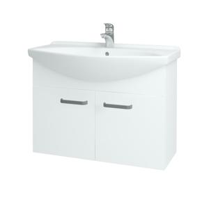 Dřevojas - Koupelnová skříň TAKE IT SZD2 85 - N01 Bílá lesk / Úchytka T01 / N01 Bílá lesk (133603A)