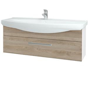 Dřevojas - Koupelnová skříň TAKE IT SZZ 120 - N01 Bílá lesk / Úchytka T03 / D17 Colorado (207359C)