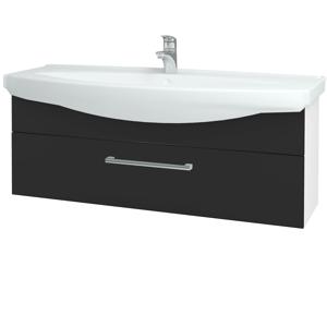 Dřevojas - Koupelnová skříň TAKE IT SZZ 120 - N01 Bílá lesk / Úchytka T03 / N03 Graphite (207366C)