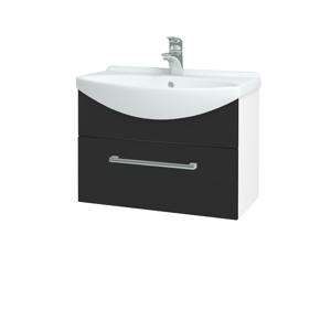 Dřevojas - Koupelnová skříň TAKE IT SZZ 65 - N01 Bílá lesk / Úchytka T03 / N03 Graphite (206727C)