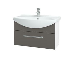 Dřevojas - Koupelnová skříň TAKE IT SZZ 75 - N01 Bílá lesk / Úchytka T03 / N06 Lava (206895C)