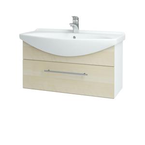 Dřevojas - Koupelnová skříň TAKE IT SZZ 85 - N01 Bílá lesk / Úchytka T02 / D02 Bříza (152567B)