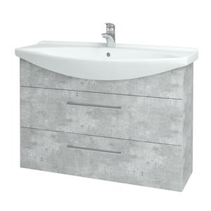 Dřevojas - Koupelnová skříň TAKE IT SZZ2 105 - D01 Beton / Úchytka T03 / D01 Beton (134174C)