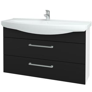 Dřevojas - Koupelnová skříň TAKE IT SZZ2 120 - N01 Bílá lesk / Úchytka T03 / N08 Cosmo (208196C)