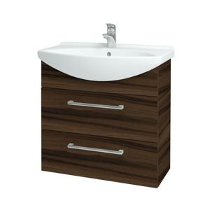 Dřevojas - Koupelnová skříň TAKE IT SZZ2 75 - D06 Ořech / Úchytka T03 / D06 Ořech (133948C)
