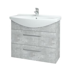 Dřevojas - Koupelnová skříň TAKE IT SZZ2 85 - D01 Beton / Úchytka T01 / D01 Beton (134037A)