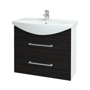 Dřevojas - Koupelnová skříň TAKE IT SZZ2 85 - N01 Bílá lesk / Úchytka T03 / D14 Basalt (153083C)