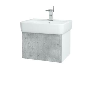 Dřevojas - Koupelnová skříň VARIANTE SZZ 60 - N01 Bílá lesk / D16 Beton tmavý (196448)