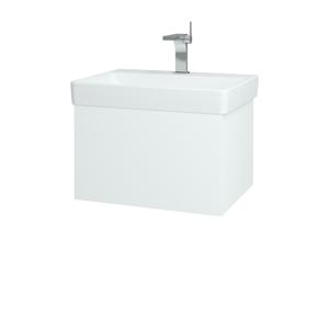 Dřevojas - Koupelnová skříň VARIANTE SZZ 60 - N01 Bílá lesk / L01 Bílá vysoký lesk (162795)