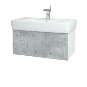 Dřevojas - Koupelnová skříň VARIANTE SZZ 85 - M05 Béžová mat / M05 Béžová mat (196813)