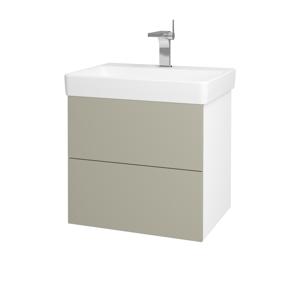 Dřevojas - Koupelnová skříň VARIANTE SZZ2 60 - N01 Bílá lesk / M05 Béžová mat (194666)