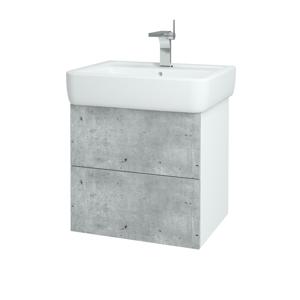 Dřevojas - Koupelnová skříň VARIANTE SZZ2 60 - N01 Bílá lesk / N08 Cosmo (196714)