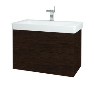 Dřevojas - Koupelnová skříň VARIANTE SZZ2 85 - D08 Wenge / D08 Wenge (164027)