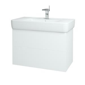 Dřevojas - Koupelnová skříň VARIANTE SZZ2 85 - N01 Bílá lesk / L01 Bílá vysoký lesk (166373)