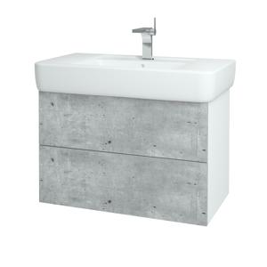 Dřevojas - Koupelnová skříň VARIANTE SZZ2 85 - N01 Bílá lesk / N08 Cosmo (197117)