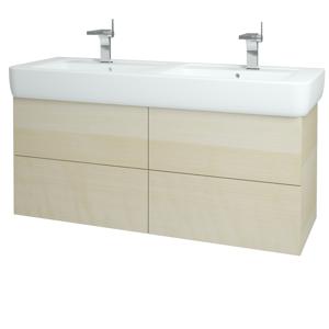 Dřevojas - Koupelnová skříň VARIANTE SZZ4 130 - D02 Bříza / D02 Bříza (162306)