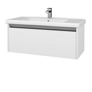 Dreja Dreja - Koupelnová skříň BONO SZZ 100 (umyvadlo Harmonia) - N09 Bílá mat / N09 Bílá mat (204235)