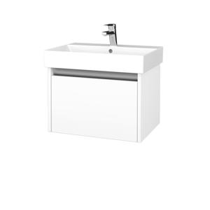 Dřevojas - Kúpeľňová skrinka BONO SZZ 60 - N09 Bílá mat / N09 Bílá mat (277420)