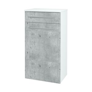 Dřevojas - Skříň spodní DOS SNDKZ 50 - N01 Bílá lesk / Úchytka T02 / D15 Nebraska (174521B)