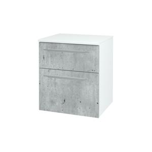 Dřevojas - Skříň spodní DOS SNZ2K 50 - N01 Bílá lesk / Úchytka T02 / N03 Graphite (211615B)