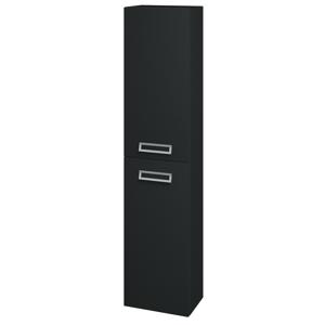 Dřevojas - Skříň vysoká DOOR SV1D2 35 - L03 Antracit vysoký lesk / L03 Antracit vysoký lesk / Levé (151751)