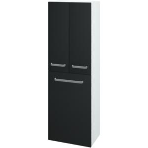 Dřevojas - Skříň vysoká DOS SVD3K 50 - N01 Bílá lesk / Úchytka T01 / L03 Antracit vysoký lesk (65136A)