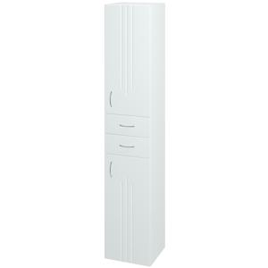 Dřevojas - Skříň vysoká DREJA SVD2Z2 35 - N01 Bílá lesk / L01 Bílá vysoký lesk / Pravé (15100P)