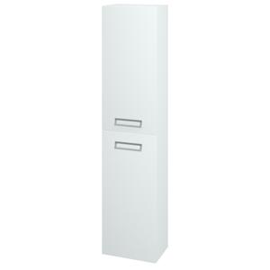 Dřevojas - Skříň vysoká SINGLE SV1D2 35 - N01 Bílá lesk / L01 Bílá vysoký lesk / Pravé (24171P)