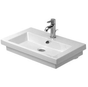 DURAVIT - 2nd floor Trojotvorové umývadlo s prepadom, 600 mm x 430 mm, biele (0491600030)