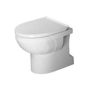 DURAVIT - DuraStyle Basic Stojace WC, spodný odpad, Rimless, s HygieneGlaze, alpská biela (2184012000)