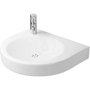 DURAVIT - Architec Bezotvorové umývadlo bez prepadu, 575 mm x 520 mm, biele – umývadlo, s WonderGliss (04435800001)