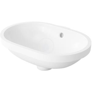 DURAVIT DURAVIT - Bathroom_Foster Bezotvorové umyvadlo s přepadem, 430 mm x 280 mm, bílé, Bezotvorové umývadlo s prepadom, 430 mm x 280 mm, biele – umývadlo (0336430000)
