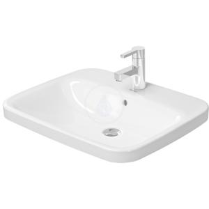 DURAVIT DURAVIT - DuraStyle Jednootvorové umyvadlo s přepadem, 615 mm x 495 mm, bílé, Jednootvorové umývadlo s prepadom, 615 mm x 495 mm, biele – umývadlo (0374620000)
