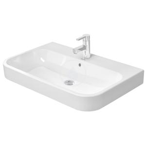 DURAVIT - Happy D.2 Umývadlo do nábytku s prepadom, 800 mm x 505 mm, biele – trojotvorové umývadlo (2318800030)