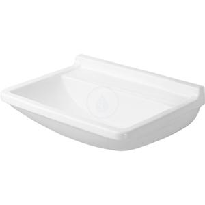 DURAVIT DURAVIT - Starck 3 Bezotvorové umyvadlo Med bez přepadu, 500 mm x 360 mm, bílé, Bezotvorové umývadlo Med bez prepadu, 500 mm x 360 mm, biele – umývadlo (0307500000)