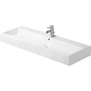 DURAVIT - Vero Umývadlo s prepadom, 1200 mm x 470 mm, biele – jednootvorové umývadlo, s WonderGliss (04541200001)
