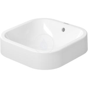 DURAVIT - Happy D.2 Bezotvorová umývadlová misa s prepadom, 400 mm x 400 mm, biela – umývadlová misa, s WonderGliss (23144000001)