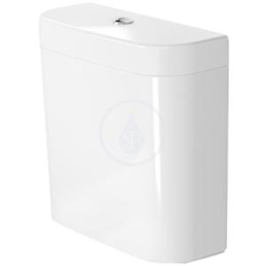 DURAVIT - Happy D.2 Splachovací nádrž, 390 x 160 mm, bílá, Splachovacia nádrž, 390 mm x 160 mm, biela – nádrž, pripojenie dole vľavo, splachovanie 6 l (0934100005)