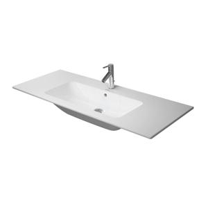 DURAVIT - ME by Starck Umývadlo nábytkové 1230x490 mm, s 3 otvormi na batériu, s WonderGliss, alpská biela (23361200301)