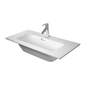 DURAVIT - ME by Starck Umývadlo nábytkové Compact, 830x400 mm, s 3 otvormi na batériu, alpská biela (2342830030)