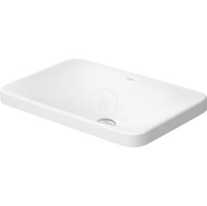 DURAVIT - P3 Comforts Bezotvorové umývadlo bez prepadu, 550 mm x 360 mm, biele (0377550000)