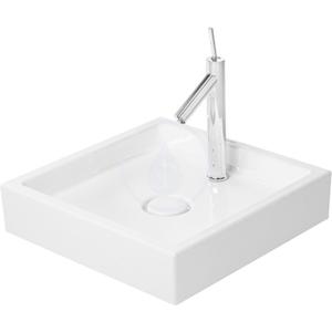DURAVIT - Starck 1 Umývadlová misa bez prepadu, brúsená, 470 mm x 470 mm, biela – bezotvorová umývadlová misa, s WonderGliss (03874700281)
